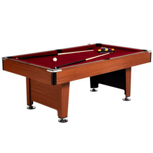 Circus Circus Pool Table with red felt